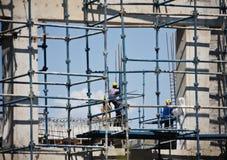 pracownicy budowlani Zdjęcie Royalty Free