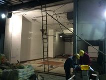 Pracownicy budowlani w Hong Kong Zdjęcie Royalty Free