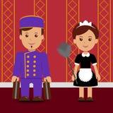Pracownicy hotel royalty ilustracja