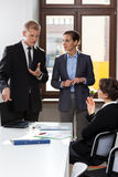 Pracownicy ma biznesowego spotkania Fotografia Stock