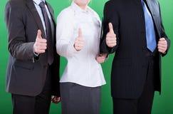 Pracownicy pokazuje zadowalającego gest Obrazy Stock