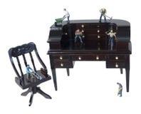 Pracownicy używa pracę zespołową i narzędzia na biurku Zdjęcie Stock