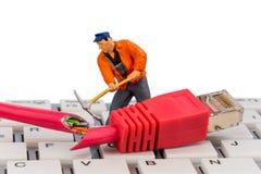 Pracownicy, włączniki i klawiatura, fotografia royalty free