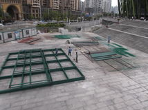 Pracownicy w budowie w spawie Zdjęcie Royalty Free