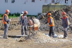 pracowników budowlanych fotografia royalty free