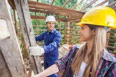 pracowników budowlanych Fotografia Stock