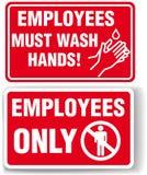 pracowników ręk znaków obmycie Obraz Stock