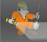 pracownik ściekowy royalty ilustracja