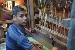 pracownik Bangladesh Fotografia Royalty Free