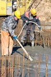 pracownik betonowe pracy Zdjęcia Stock
