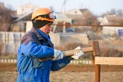 pracownik budowlany obrazy royalty free