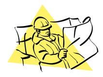 pracownik budowlany ilustracja wektor