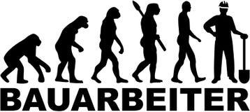 Pracownik budowlany ewolucja Niemiecki stanowisko ilustracji
