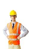 pracownik budowlany potomstwa Zdjęcia Royalty Free
