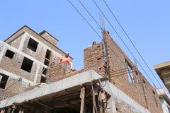 Pracownik budowy domy Fotografia Stock