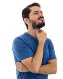 Pracownik czuje gardła kaleczenie Stawia rękę przed szyją obraz stock