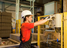 pracownik fabryczny Zdjęcie Stock