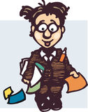 pracownik komiks. ilustracji