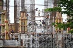 Pracownik kondygnaci budynku zbawczy projekt Zdjęcie Stock