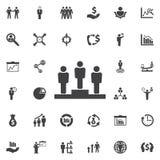 Pracownik miesiąca zwycięzcy ikona ilustracja wektor