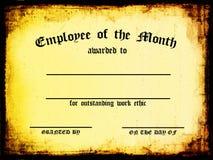 pracownik miesiąca Zdjęcia Stock