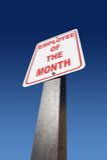 pracownik miesiąca Obrazy Royalty Free