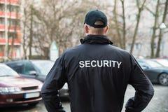 Pracownik Ochrony Jest ubranym kurtkę Fotografia Stock