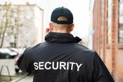 Pracownik Ochrony Jest ubranym kurtkę Obraz Stock