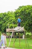 Pracownik ochrony w kraju parku w Lahore, Pakistan Obrazy Royalty Free