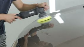 Pracownik polerownicza czapeczka samochód zdjęcie wideo