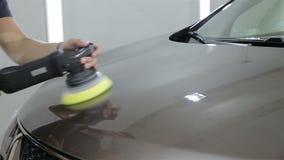 Pracownik polerownicza czapeczka samochód zbiory
