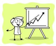 Pracownik Przedstawia Biznesowego wykres w spotkaniu royalty ilustracja