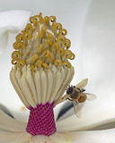 Pracownik pszczoły dźwignia fotografia stock