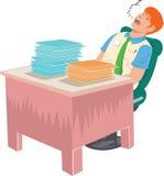 Pracownik spada uśpiony w biurze Zdjęcie Royalty Free