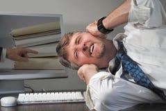 pracownik stresować się stresował się zdjęcie stock