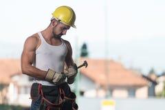 Pracownik w budowie Zdjęcie Royalty Free