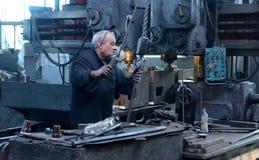 Pracownik w fabryce Obraz Stock