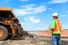 Pracownik w lignit kopalni zdjęcia royalty free