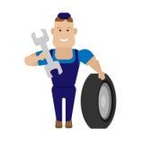 Pracownik w przemyśle motoryzacyjnym Obraz Royalty Free