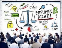 Pracownik Wyprostowywa Zatrudnieniowej równości Akcydensowego Biznesowego Seminaryjnego pojęcie ilustracja wektor