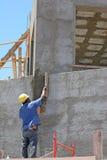pracownik z betonu obrazy stock