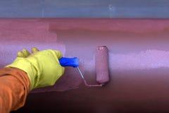 Pracownika budowlanego obrazu przewód ochraniać przeciw rdzy obraz stock