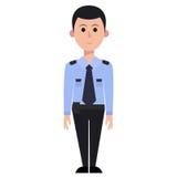 Pracownika ochrony mężczyzna, eps, wektor, ilustracja Zdjęcia Royalty Free