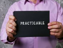 PRACTICABLE sign on the sheet