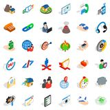 Practical approach icons set, isometric style. Practical approach icons set. Isometric set of 36 practical approach vector icons for web isolated on white Stock Photo