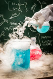 Practical chemical tests in academic laboratory Royalty Free Stock Images