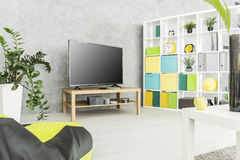 Practical and comfy modern living space Stock Images