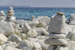 Practical example of perfect equilibrium. In nature Royalty Free Stock Photos