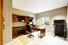 Practical interior design. Office room. With carved wood furniture royalty free stock images