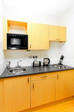 Practical kitchen. For small space in studio apartment Royalty Free Stock Photography